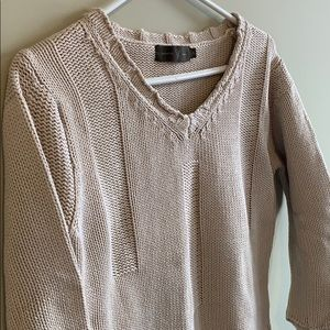 Cropped Cotton Knit Top